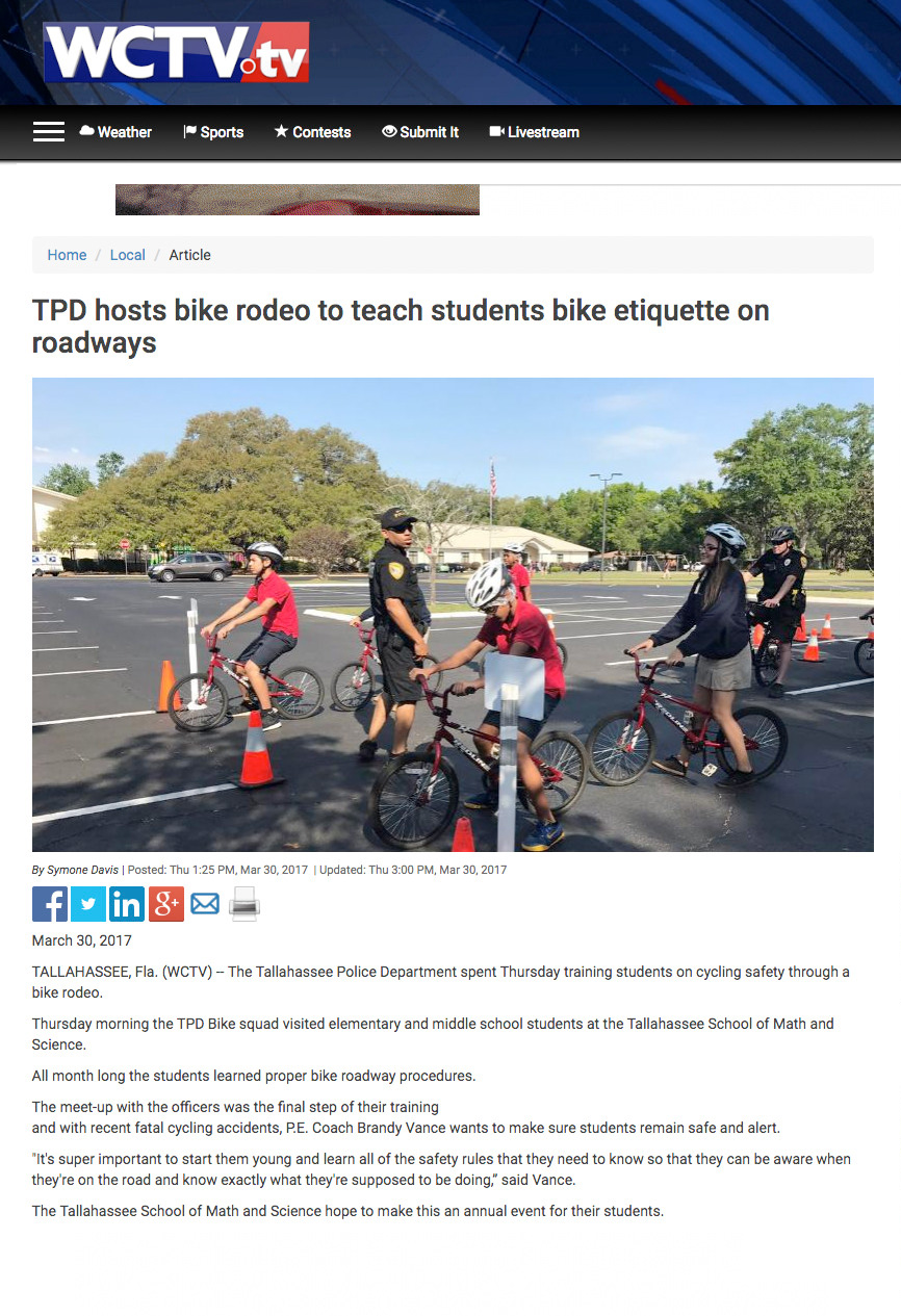 TPD hosts bike rodeo to teach students bike etiquette on roadways